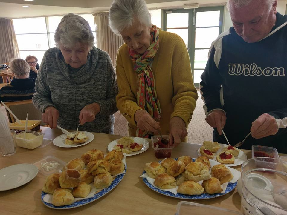Making scones at Aveo Carisfield