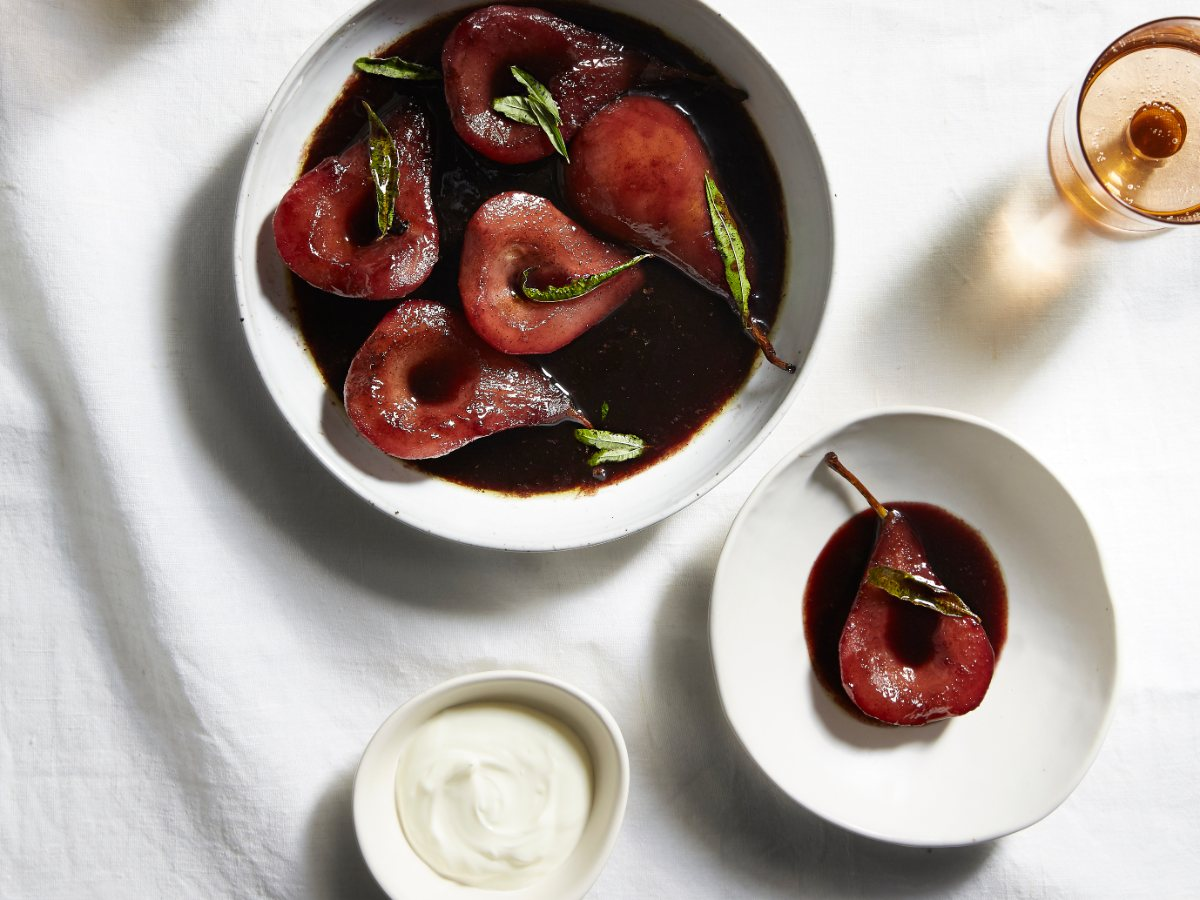 Red Wine Pears   Live Life Cook