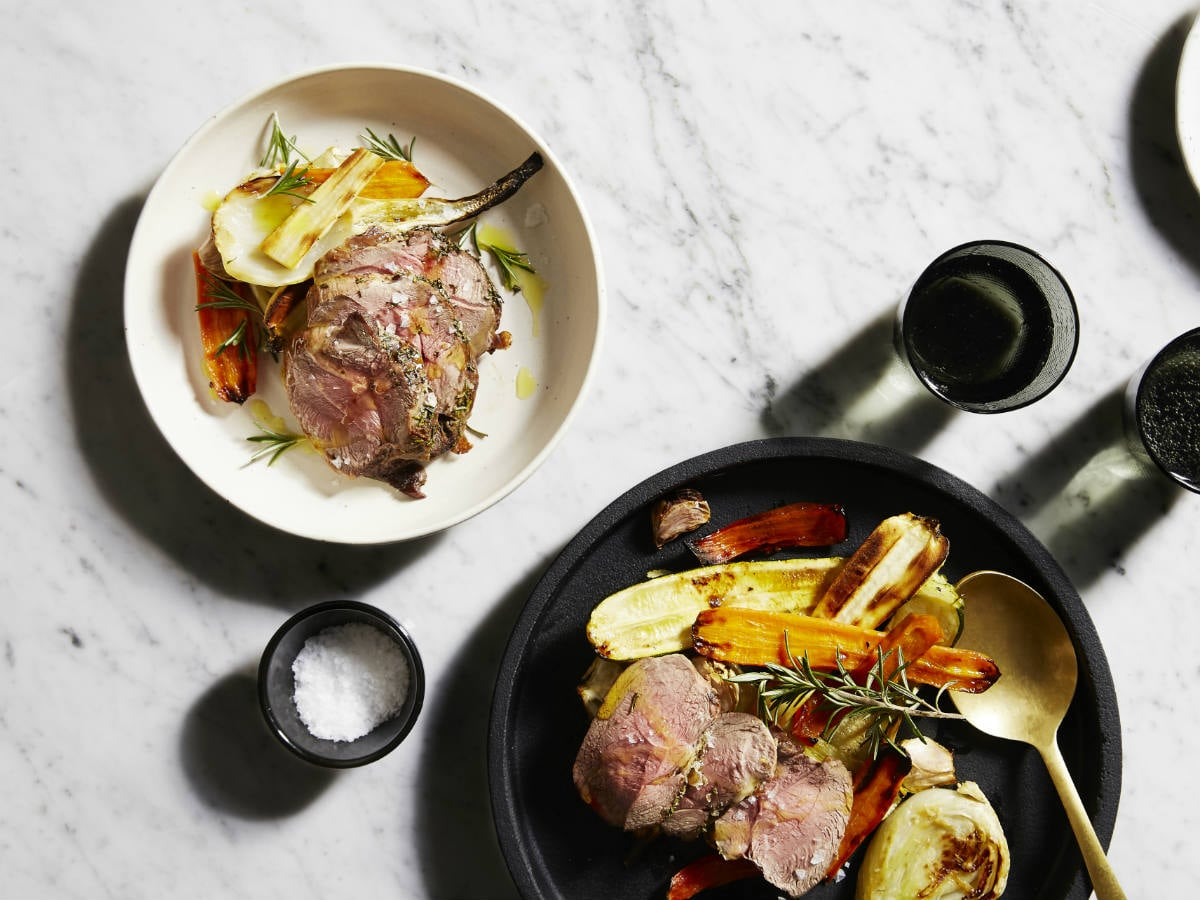 Roast lamb rump with Tuscan vegetables recipe by Aveo
