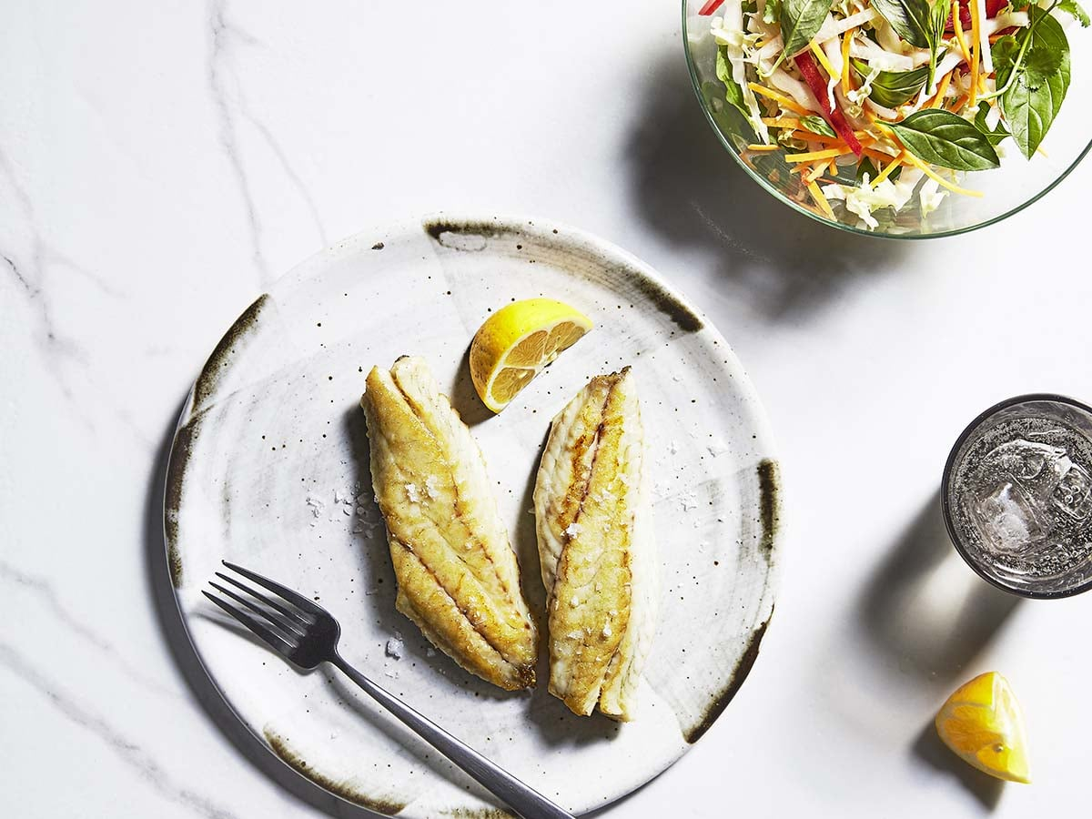 Aveo cookbook for over 65s    Golden grilled cod with spiced coleslaw recipe