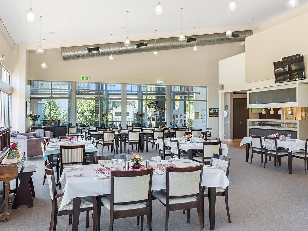 Aveo Freedom Aged Care Tanah Merah dining room