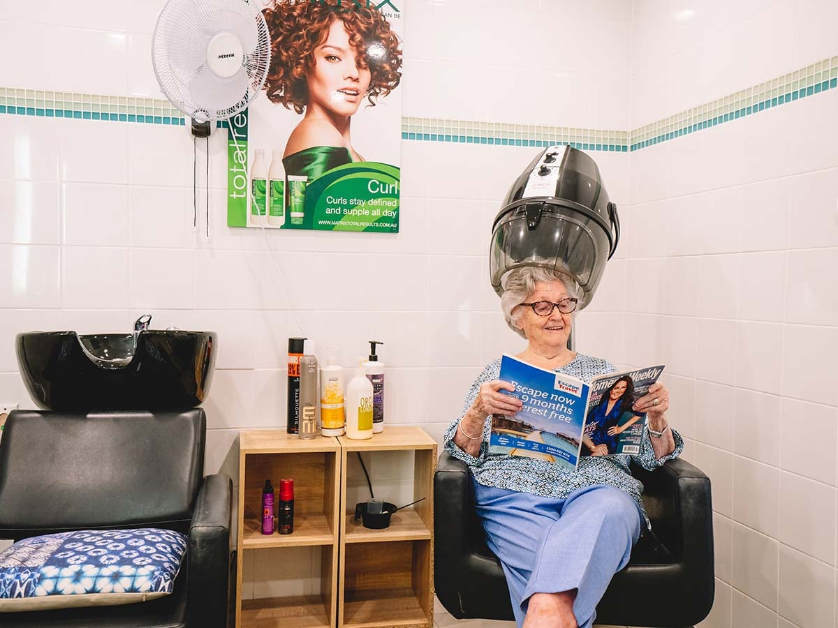 Pamper yourself in the hair and beauty salon