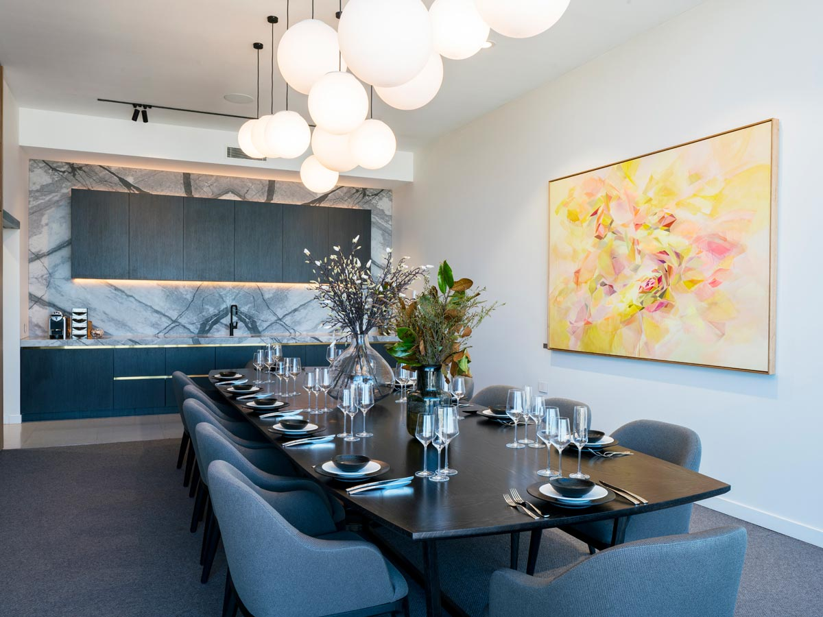 Aveo Newstead private dining room