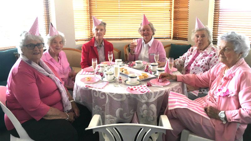 Aveo Fernbank goes pink for afternoon tea