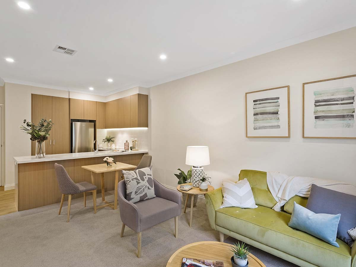 Aveo Freedom Aged Care Hawthorn living room