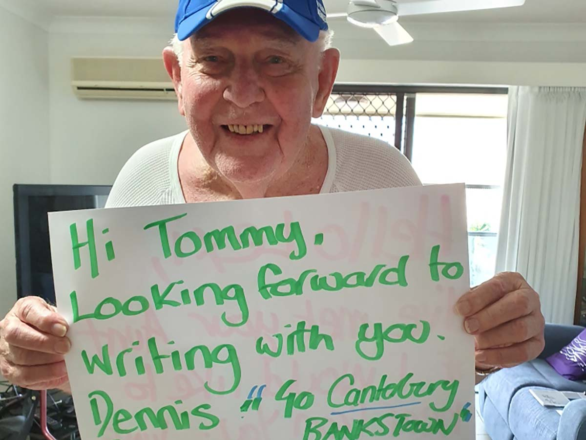 Dennis has a great friendship with his pen pal