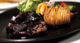 Grilled Steak With Hasselback Potatoes