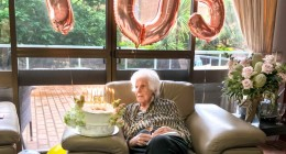 Judith's 105th birthday at Aveo Lindfield Gardens