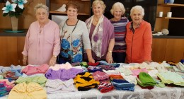 Aveo Robina craft group donate for winter