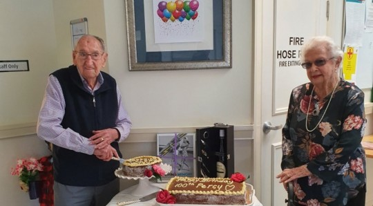 Percy's 100th birthday at Aveo Peregian Springs Country Club