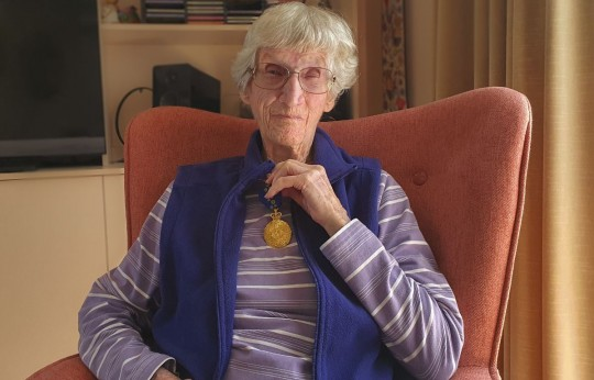 Resident at Leabrook Lodge receives AM