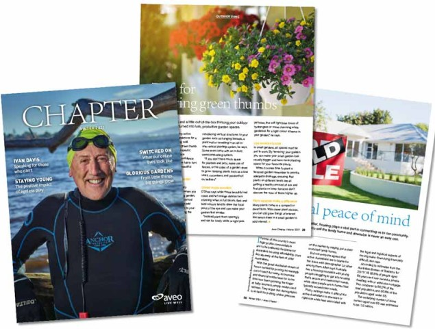 Pictures of articles featured in winter Chapter Magazine