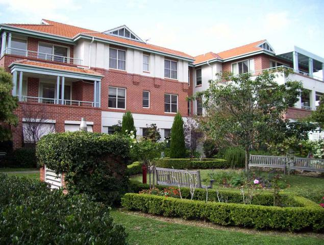 Manors of Mosman Village Village gardens and Independent Living Unit block external med res 290409