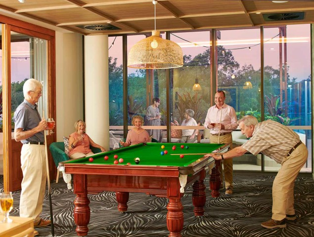 Enjoy a game of Billiards with friends