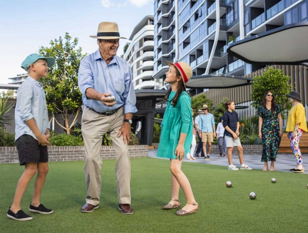 Enjoy time with family in the community spaces